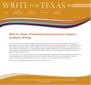 Write for Texas